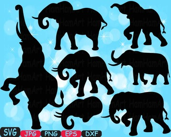 Elephant SVG Mascot Jungle Animal Safari family Decor wild