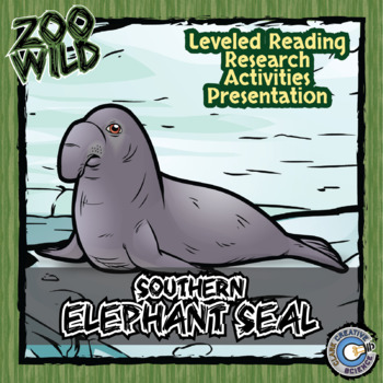 Elephant Seal -- 10 Resources -- Coloring Pages, Reading & Activities