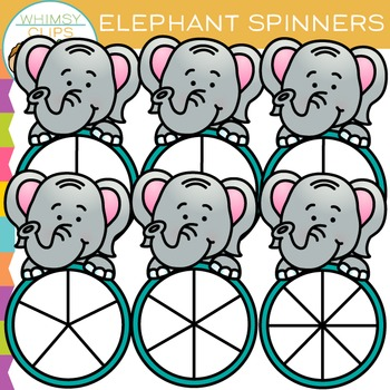 Elephant Spinners Clip Art