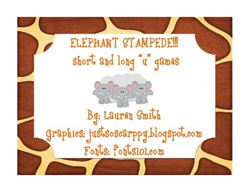 """Elephant Stampede!!! Short and Long """"u"""" 3 in 1"""
