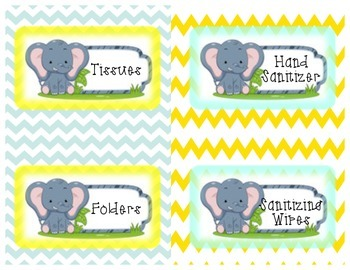 Elephant Supply Labels