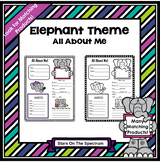 Elephant Theme All About Me