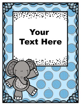 Elephant Theme Binder Covers