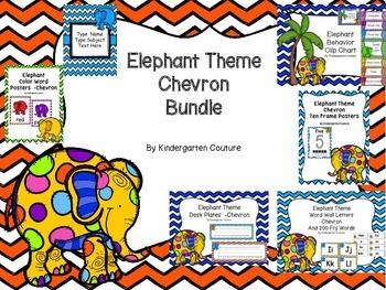 Elephant Theme Bundle (Chevron)