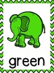 Elephant Color Word Posters (Chevron)