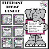 Elephant Theme Classroom Decor Mega Bundle EDITABLE (Eleph