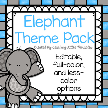 Elephant Theme Classroom Decor Pack
