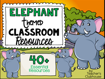 Elephant Theme Decor Pack