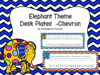 Elephant Desk Plates Chevron