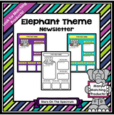 Elephant Theme Editable Newsletter