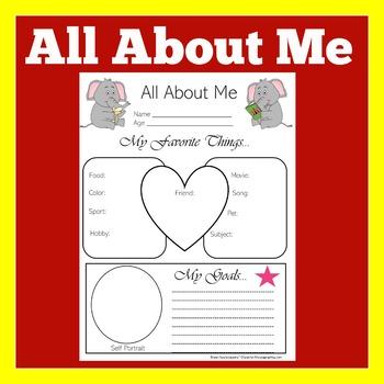 Elephant Theme | Elephant Theme Classroom |  Elephant Activity | All About Me