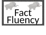 Elephant Theme Fact Fluency Record Sheet