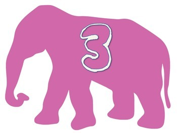 Elephant Theme : Numbers
