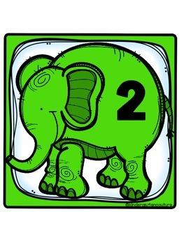 Elephant Theme Table Numbers -Freebie!