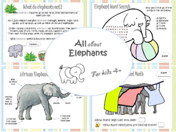 Elephant Theme for preschool (Age: 4+)