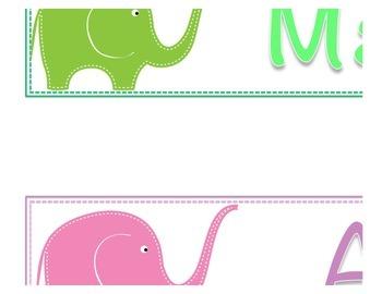 Elephant Theme : months