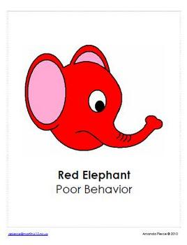 Elephant Themed Behavior Clip Chart AND Take Home Chart