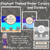 Elephant Themed Binder Covers and Dividers