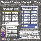 Calendar Time - Elephant Theme