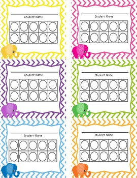 Elephant Themed Classroom Pack