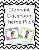 Elephant Themed Classroom Pack