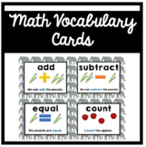 Elephant Themed Math Vocabulary Cards