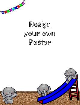 Elephant Themed Stationery Set