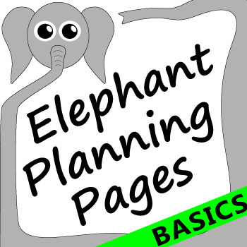 Elephant Themed Teacher Planning Pages Basics