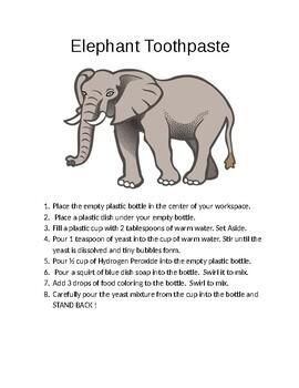 Elephant Toothpaste Activity
