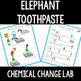 Elephant Toothpaste Chemical Change Lab