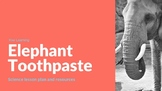 Elephant Toothpaste Science lesson and experiment