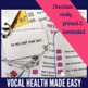 Elephant Vocal Hygiene for Speech Therapy