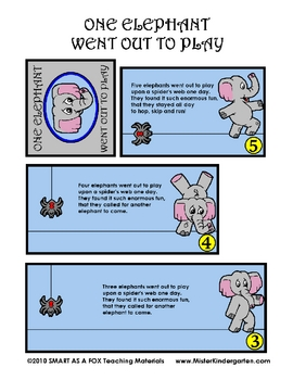 Elephant Went Out to Play Math Story Flip Booklet