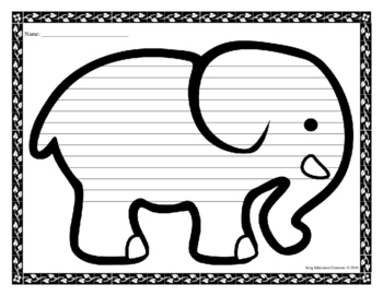 Elephant Writing Paper