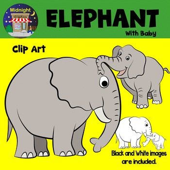 Elephant Zoo Animals Clip Art