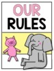 Classroom Rules {Expectations} Posters for Back to School Kindergarten & First