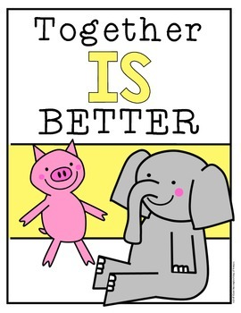 Elephant and Piggie {Freebie} Together IS Better!