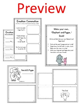 Elephant and Piggie. Happy Pig Day! Worksheets. Mo Willems. | TpT