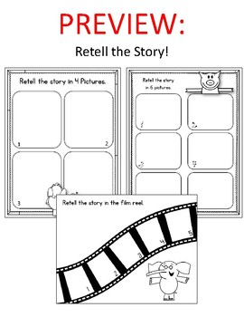 Elephant and Piggie.  I Will Surprise My Friend! Worksheets. Mo Willems.