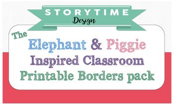 Elephant and Piggie Inspired Bulletin Border