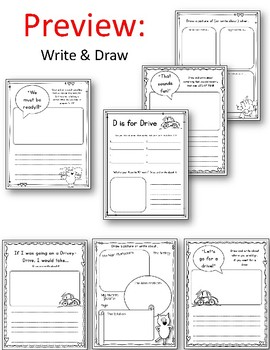 Elephant and Piggie. Let\'s Go for a Drive! Worksheets. Mo Willems.