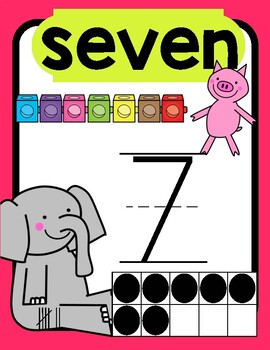 Elephant and Piggie Number Posters