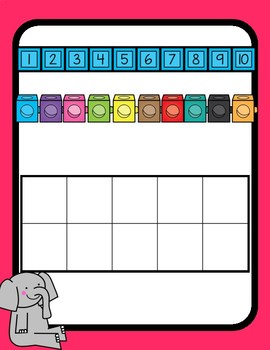 Elephant and Piggie Spanish Number Posters