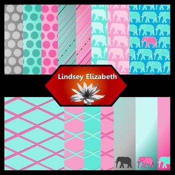 Elephant-astic {Digital Paper Background Set}