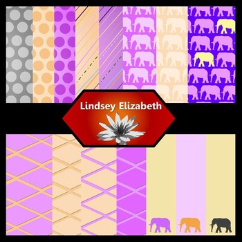 Elephant-astic Petunia {Digital Paper Background Set}