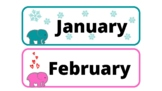 Elephant themed Months of the year