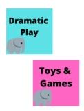 Elephant themed center tags