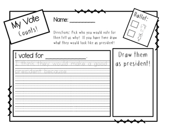 Elephant vs. Piggie election day packet