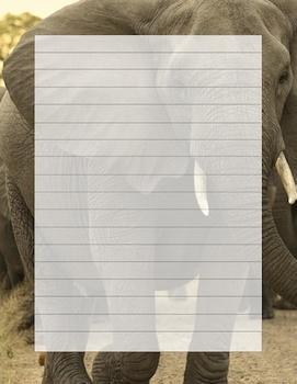 Elephant writing template