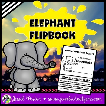 Elephant Science Activities (Elephant Research Flipbook)